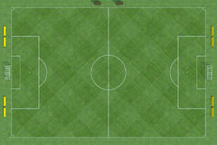 Top view of soccer field Stock Image