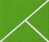 Top view of soccer field Royalty Free Stock Images