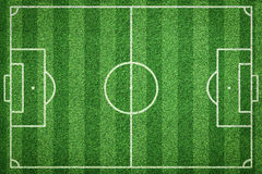 Top view of soccer field. Football field Royalty Free Stock Image