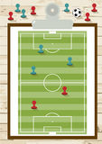 Top view of soccer field or football field on board Royalty Free Stock Photos