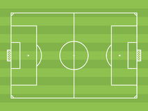 Top view of soccer field or football field. It can be used for a website, mobile application, presentation, corporate identity design, wherever you decide that royalty free illustration