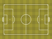 Top view of soccer field or football field. It can be used for a website, mobile application, presentation, corporate identity design, wherever you decide that Stock Images
