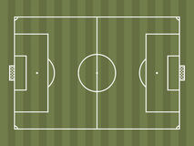 Top view of soccer field or football field. It can be used for a website, mobile application, presentation, corporate identity design, wherever you decide that vector illustration