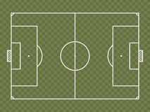 Top view of soccer field or football field. It can be used for a website, mobile application, presentation, corporate identity design, wherever you decide that Royalty Free Stock Images