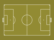 Top view of soccer field or football field Royalty Free Stock Photo