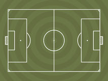 Top view of soccer field or football field. It can be used for a website, mobile application, presentation, corporate identity design, wherever you decide that Royalty Free Stock Image