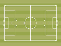 Top view of soccer field or football field Stock Image