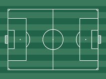 Top view of soccer field or football field Royalty Free Stock Photos