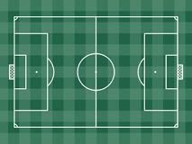 Top view of soccer field or football field Stock Photos