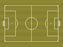 Top view of soccer field or football field Royalty Free Stock Images