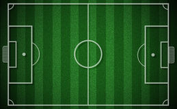 Top view of soccer field or football field grass green Stock Photo