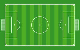 Top view of soccer field or football field - Vecto Royalty Free Stock Images