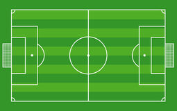 Top view of soccer field or football field - Vecto Stock Photo