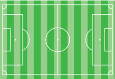 Top view of soccer field or football field. Vector illustration Royalty Free Stock Image