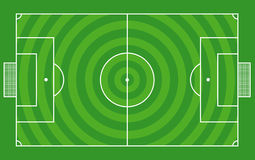 Top view of soccer field or football field -Vector Royalty Free Stock Photography