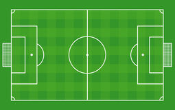 Top view of soccer field or football field -Vector Stock Image