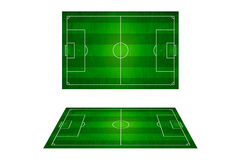 Top view of soccer field, Football stadium. Royalty Free Stock Photos