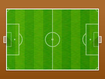 Top view of soccer pitch Royalty Free Stock Image