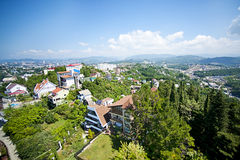 Top view of Sochi city Stock Image