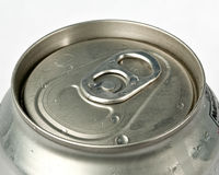 Top view of soda can Stock Image