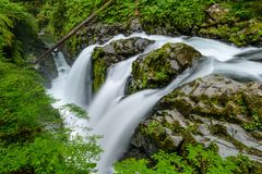 Sol Duc Falls. A top view of Sol Duc Falls. Olympic National Park, Washington, USA Stock Photography