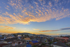Top view of Songkhla province Thailand. In evening Stock Images