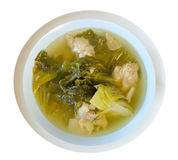 Top view soup Stock Image