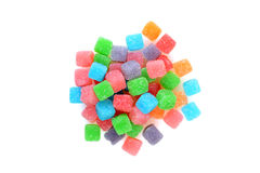 Top view sour chewy candy Royalty Free Stock Photos