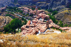 Top view of spanish mountains town Stock Photography