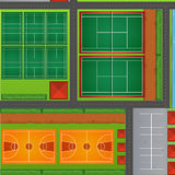 Top view of sport courts Royalty Free Stock Photos