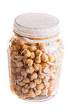 Top View of Sprouting Chickpeas Growing in a Jar Stock Photography