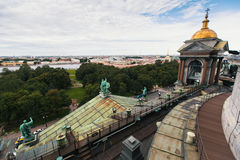Top view from St. Isaac`s Cathedral in St. Petersburg Stock Images