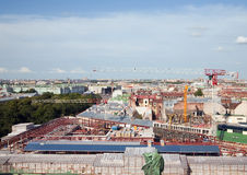 Top view of St. Petersburg Stock Image