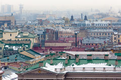 Top View of St. Petersburg Royalty Free Stock Image