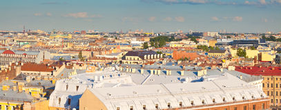 Top view of   St. Petersburg, Russia Stock Photo