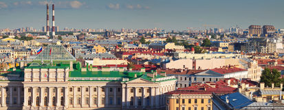 Top view of St. Petersburg, Russia Stock Image