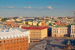 Top view of St. Petersburg Royalty Free Stock Photo
