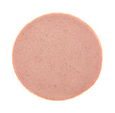 Top view of a stack of bologna Royalty Free Stock Photography