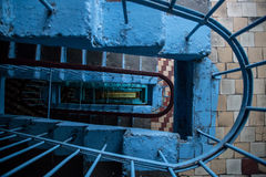 Top view of the stairwell of a multistory building. Royalty Free Stock Images