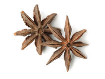 Top view of star anise fruits Royalty Free Stock Image