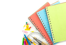 Top view stationery background Stock Image