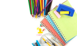 Top view stationery background Stock Photography
