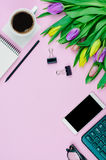 Top view of stationery Stock Photo