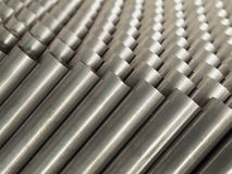 Top view of Steel Pipe Stock Photography