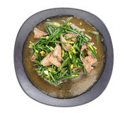 Top view of stir fried pork liver with vegetable Royalty Free Stock Photography