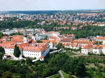 Top view of Strahov Monastery, Prague Stock Photos