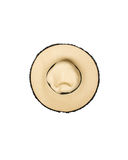 Top view of straw hat on white Royalty Free Stock Image