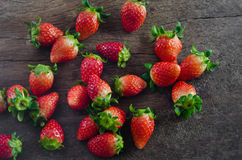 Top view strawberries Stock Photography