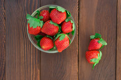 Top view strawberries Royalty Free Stock Images
