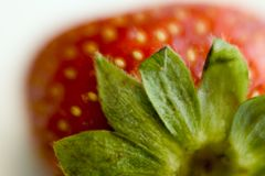 Top view of strawberry Stock Photography